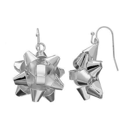 Bow Nickel Free Drop Earrings