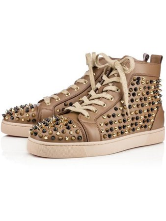 Christian Louboutin Men's Spiked Flat Sneakers