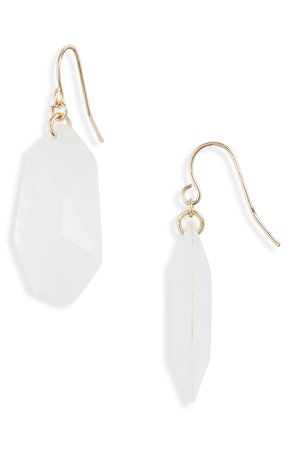 Halogen® Faceted Resin Drop Earrings | Nordstrom