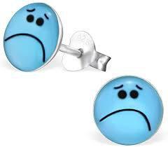 sad face earrings - Google Search