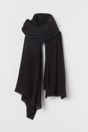 Wool-blend Scarf - Black - Ladies | H&M US
