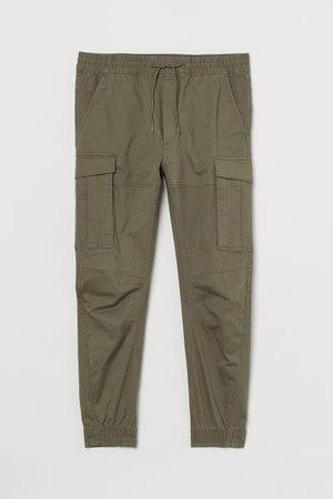 Cargo Joggers - Khaki green - Men | H&M US