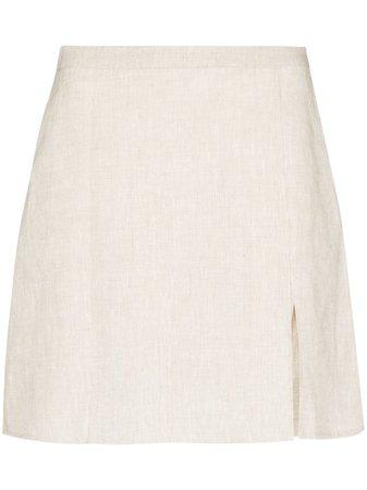 Reformation Baker Linen Mini Skirt