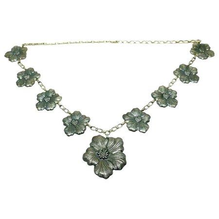 Buccellati Sterling Silver Vintage Flower Necklace
