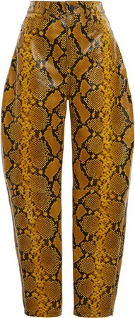 Attico Wide Leg Tailored Snake Print Trousers