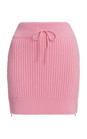 Ribbed-Knit Drawstring Mini Skirt By David Koma | Moda Operandi