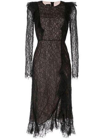 Giambattista Valli Lace Embroidered Midi Dress - Farfetch