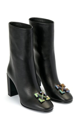 Leather Arrow Ankle Boots by Off-White c/o Virgil Abloh | Moda Operandi