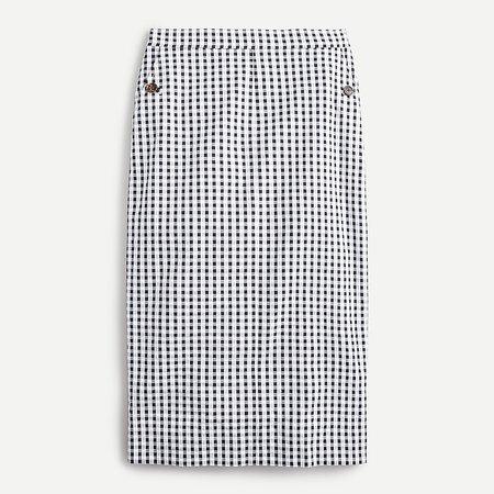J.Crew: Pencil Skirt In Gingham Seersucker For Women