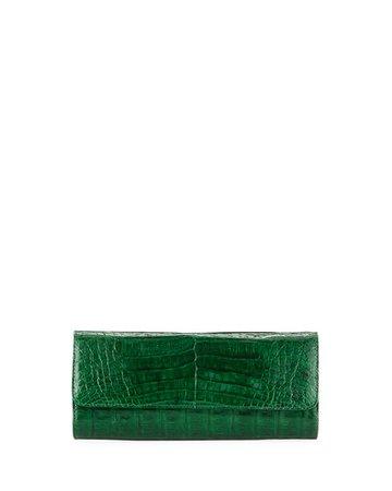 Judith Leiber Couture Kate Caiman Crocodile Clutch Bag | Neiman Marcus