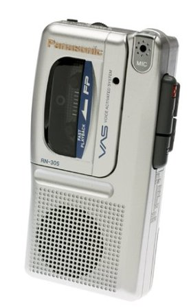 Amazon.com: Panasonic (RN-305) RN305 Micro Cassette Recorder with Voice Activation System: Electronics
