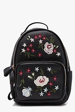 Ana Embroidered Zip Around Rucksack