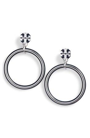 Tory Burch Logo Hoop Earrings | Nordstrom