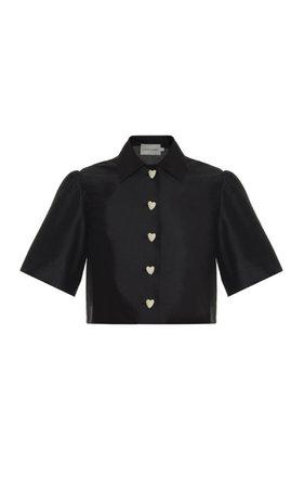Cropped Silk Shirt by George Keburia   Moda Operandi