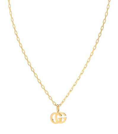 GUCCI Double G 18kt gold and topaz necklace