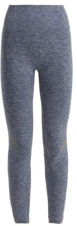Lndr - Blackout Seamless Performance Leggings - Womens - Blue Multi