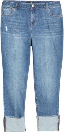 Deep Roll Cuff Jeans