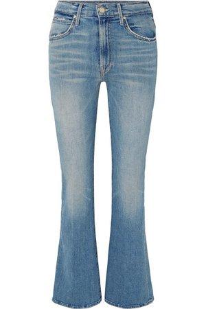 Mother | Desperado distressed high-rise flared jeans | NET-A-PORTER.COM