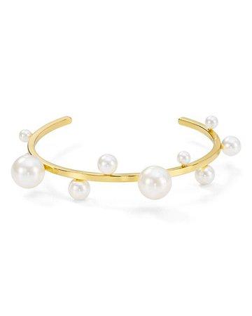 Rebecca Minkoff Sophia Simulated Pearl Cuff Bracelet | Bloomingdale's