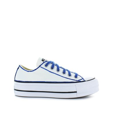 Converse All Star Platform White/blue Sneaker Ltd Ed