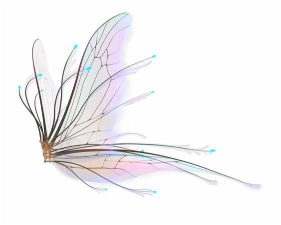 blue fairy wings aesthetic - Google Search