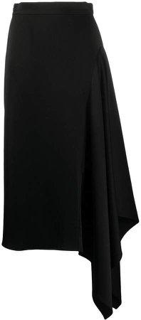 High Waisted Draped Side Skirt