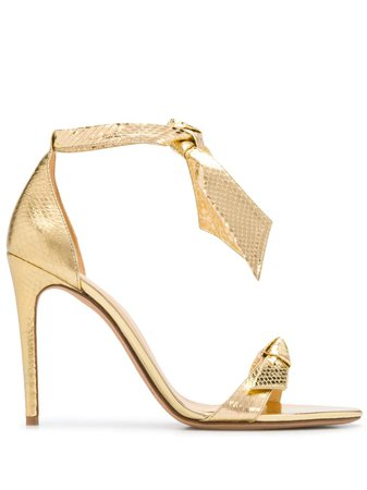 Alexandre Birman Metallic Tie Strap Sandals - Farfetch