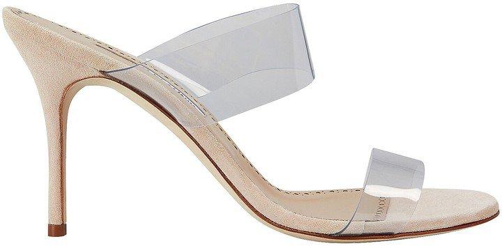 Scolto Suede PVC Strap Sandals