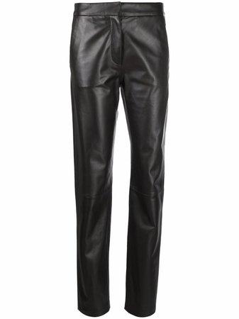 Federica Tosi straight-leg leather trousers - FARFETCH