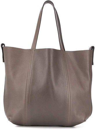 Worn Leather Tote Bag