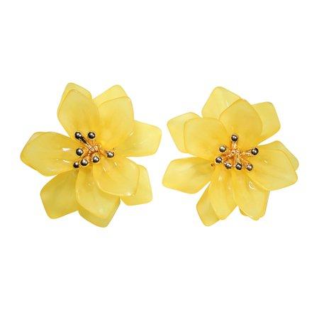 yellow flower earrings - Pesquisa Google