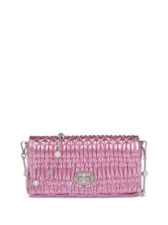 Miu Miu crystal-embellished Clutch Bag - Farfetch