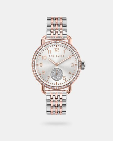 Metal strap watch with crystals from Swarovski® - Assorted | Watches | Ted Baker
