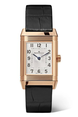 Jaeger-LeCoultre | Reverso Classic Duetto 21mm small rose gold, alligator and diamond watch | NET-A-PORTER.COM