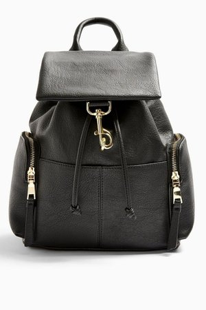 Black Dogclip Backpack | Topshop