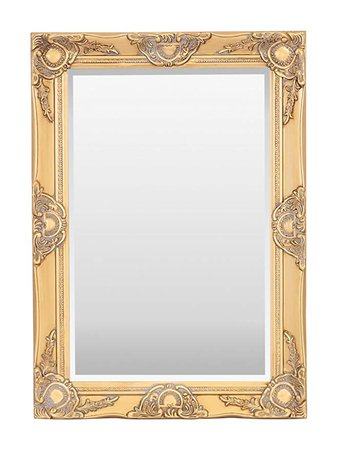 Select Mirrors Haywood Rectangle Wall Mirror (50cm x 70cm, Antique Gold): Amazon.co.uk: Kitchen & Home