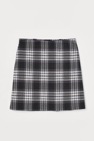 Fitted Jersey Skirt - Black