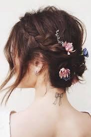Braid Bun with Flowers