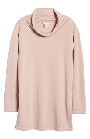 Caslon® Cowl Neck Side Button Tunic Top | Nordstrom