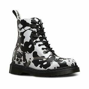 Dr. Marten Pascal Ink Blot Women's Black/White Backhand Boots   eBay