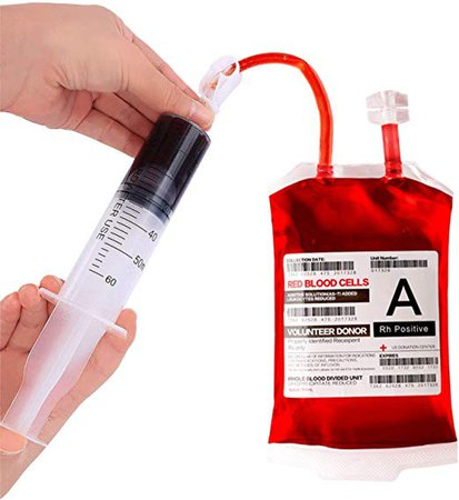 Amazon.com: Blood Bag for Drinks,Reusable Halloween Drink Pouches,IV Blood Bags Set of 10,Heavy Duty,Reclosable,for Halloween,Costume Props,Halloween Party Favors: Toys & Games
