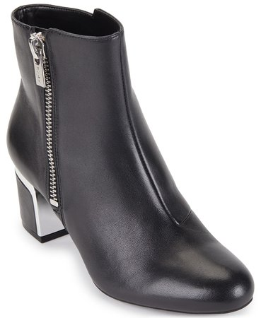 DKNY Crosbi Booties, Created For Macy's & Reviews - Boots - Shoes - Macy's black