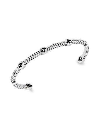 Gucci Sterling Silver Interlocking G Bracelet | SaksFifthAvenue