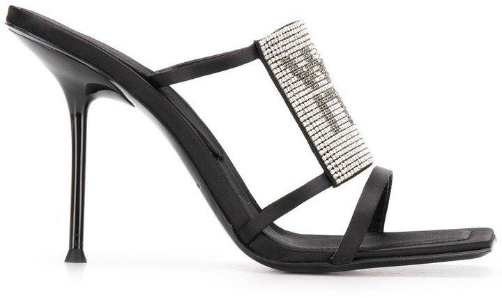 Julie crystal-embellished strappy sandals