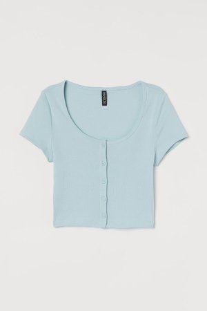 Short Jersey Top - Turquoise