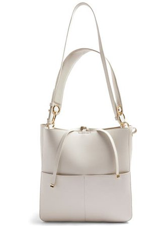 Topshop Double Pocket Faux Leather Hobo   Nordstrom