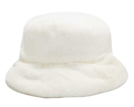 fluffy bucket hat