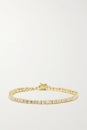 Gold 18-karat gold diamond bracelet | Suzanne Kalan | NET-A-PORTER