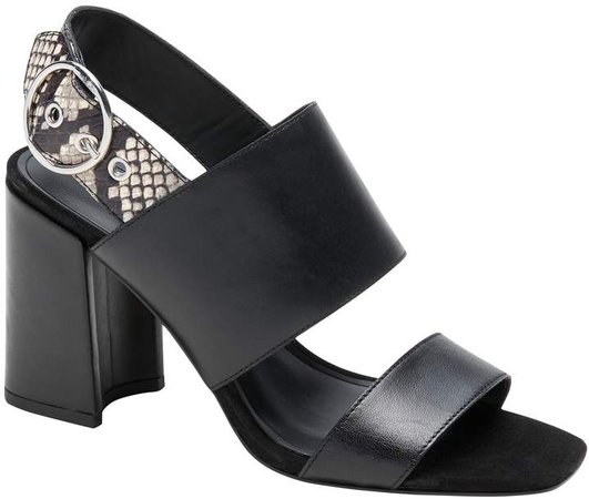 Two-Strap Block-Heel Sandal
