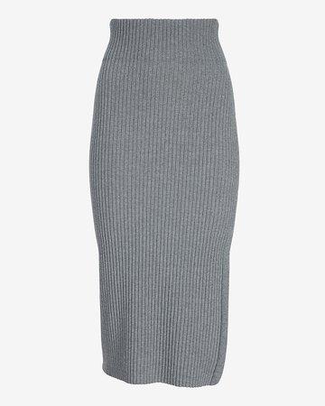 Ribbed Sweater Pencil Skirt   Express